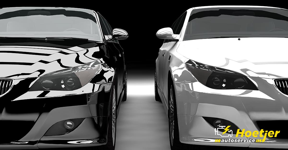 zwart witte auto